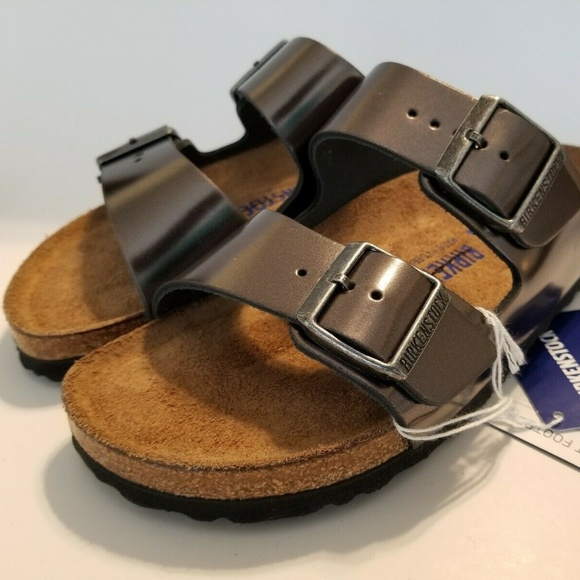 Birkenstock Arizona Sandals Metallic Anthracite 37